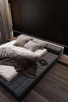 Home Room Design, Dream Home Design, House Design, Bedroom Setup, Modern Bedroom Decor, Luxury Homes Interior, Interior Architecture, Black Interior Design, Black Rooms