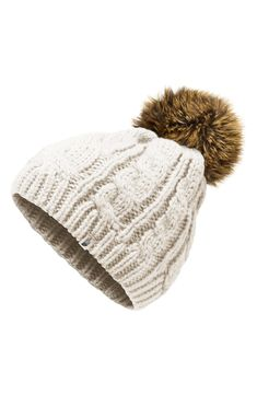 d2e71dbc5c1 Free shipping and returns on The North Face Oh-Mega Faux Fur Pom Beanie  (Big Girls) at Nordstrom.com. A fluffy faux-fur pompom tops a soft