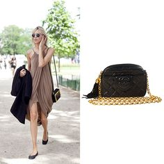 Try finishing a pretty draped dress with a chic Chanel handbag! http://bobags.com.br/aluguel-de-bolsas/chanel-black-quilted-lambskin-bag.html #chanel #aluguechanel #alugueldebolsas #bagrental #adorobobags