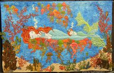 mermaid quilt [patterns | and long arm quilted mermaid dreams by shelli ricci minnesota