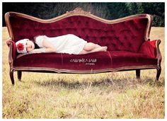 Red Victorian Sofa's