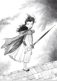 Here is Chris Riddell's Ada Goth, star of the series of books Chris writes and illustrates which include Goth Girl and the Ghost of a Mouse, Goth Girl And The Fete Worse Than Death and his special World Book Day offering Goth Girl and the Pirate Queen. Ada is based on a real person, Lord Bryon's daughter Ada Lovelace
