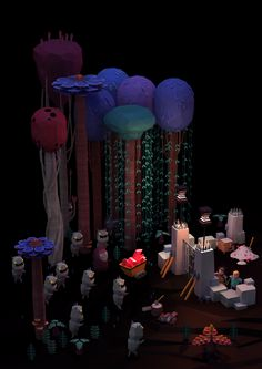 Night Forest Adventure Stories I-III by Erwin Kho, via Behance