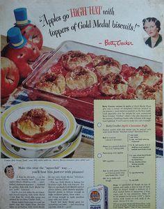 Betty Crocker ad with Apple Cinnamon Puffs recipe    Country Gentleman - September 1948