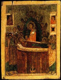 Успение Пресвятой Владычицы нашей Богородицы и Приснодевы Марии.Россия.Первая четверть 14 века