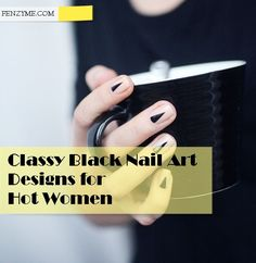 Black Nail art designs1.2