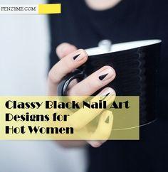Black Nail art designs1.2