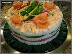 Sushi Cake (warning: recipe in Japanese)