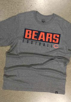 '47 Chicago Bears Grey Dub Major Short Sleeve T Shirt - 48005764 Chicago Bears T Shirts, Nfl Chicago Bears, Bear T Shirt, Short Sleeve Tee, Most Beautiful Pictures, Grey, Sleeves, Outfits, Women