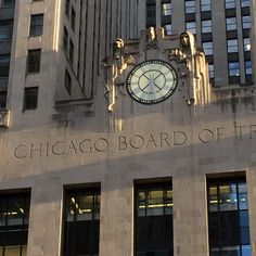 Board of Trade clock - Chicago, IL