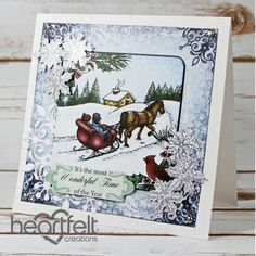 Heartfelt Creations - Sleigh Ride And Snow Flakes Project