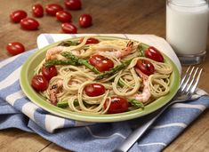 Make This Plate: Roasted Grape Tomatoes, Asparagus and Shrimp over Pasta - Fruits & Veggies More Matters : Health Benefits of Fruits & Vegetables Gout Recipes, Pasta Recipes, Fruit Benefits, Health Benefits, Roasted Grape Tomatoes, Healthy Snacks, Healthy Recipes, Shrimp And Asparagus, Fruits And Veggies