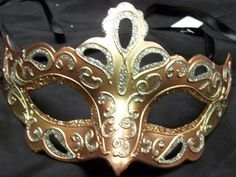 Peach and gold with elegant cut out designs masquerade mask. #reflections_vintage_toronto #masks #masquerade #masqueradeball