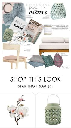 """Nordic Spring ~ Pastel Home Decor"" by eyesondesign ❤ liked on Polyvore featuring interior, interiors, interior design, home, home decor, interior decorating, Bloomingville, pasteldecor, TastemastersDesignGroup and eyesondesigninteriors"