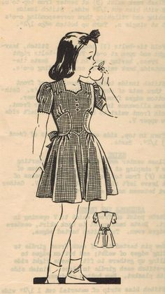1940s Mail Order WS-83 Vintage Sewing Pattern by midvalecottage