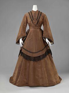 1868-1872, the Netherlands - Silk day dress