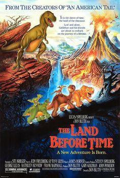 """Este es el película """"The land before time."""" Fue mi favorito película cuando era niña."""