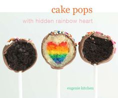 Cake Pops with Hidden Rainbow Heart - Eugenie Kitchen