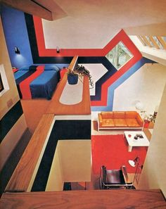 Midcentury Modern Decor & Style Ideas: Tips for Interior Design. Midcentury design is one trend that shows no sign of going away. Learn about midcentury modern decor and discover the best ways to incorporate the style Home Design, Retro Interior Design, Mid-century Interior, Interior Architecture, Interior And Exterior, Interior Decorating, 1970s Architecture, Decorating Tips, Interior Colors