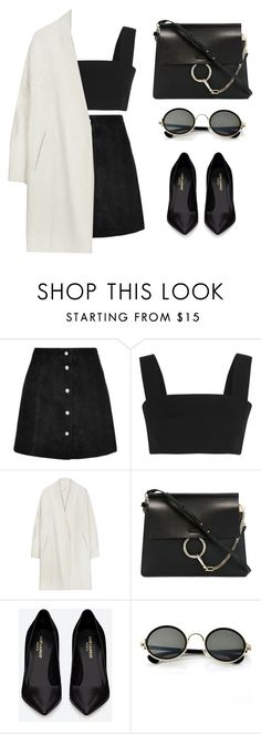 """""""where ya at?"""" by baludna ❤ liked on Polyvore featuring IRO, Balmain, Chloé and Yves Saint Laurent"""