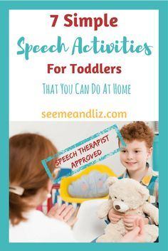 7 SImple Speech Therapy Activities For Toddlers you can do at home. These are speech therapist approved!