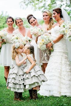 #FlowerGirls | @Janice Forster Weddings | See the wedding on SMP - http://www.StyleMePretty.com/little-black-book-blog/2014/01/02/rustic-tented-historic-cedarwood-wedding/ Kristyn Hogan Photography