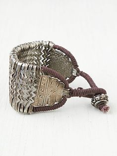 free people, metal zig zag bracelet
