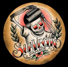 flash-art-by-quyen-dinh: Suavecito Pomade commission. Barber Logo, Barber Tattoo, American Traditional, Traditional Art, Traditional Tattoos, Desenhos Old School, Rockabilly Art, Old Scool, Tatuagem Old School