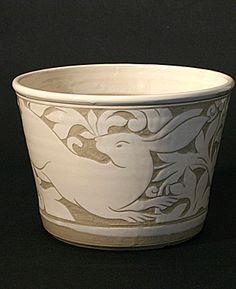 miranda thomas sgraffito carving process technique pottery ceramics clay