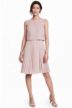 Vestido plisado - Brezo claro - MUJER   H&M ES 1