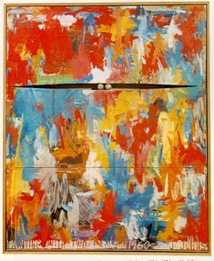 Jasper Johns  ..surprising to see that he paints things other than flags. nonetheless this is beautiful.