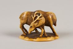 Netsuke of Two Deer Date: 18th century Culture: Japan Medium: Ivory Dimensions: H. 1 1/4 in. (3.2 cm); W. 1 7/8 in. (4.8 cm)