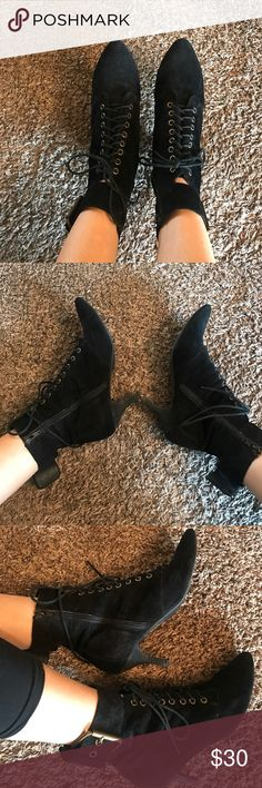 Jeffrey Campbell booties These are the most amazing and comfortable booties ever! Only 2 inch heel. Jeffrey Campbell Shoes Ankle Boots & Booties