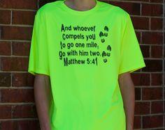 Youth Matthew 5:41 Short Sleeve Cooling Performance Crew Shirt