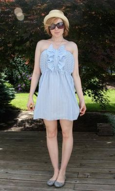Men's Shirt To Cute Summer Dress.    I so need to put my sewing skills to work again!