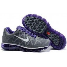 Womens Nike Air Max 2011 Mesh gray/purple running shoes for sale