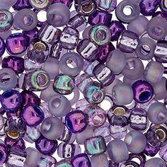 Size 6 Purple Haze Round Japanese Seed Bead Mix by FusionBeads.com® | Fusion Beads