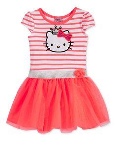 Hello Kitty Little Girls' Short-Sleeve Dress with Puff Skirt