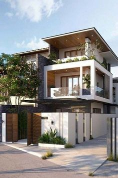 If You Read Nothing Else Today, Read This Report on Modern Exterior House Design 2019 - homeknicknack Minimal House Design, Modern Small House Design, Modern Exterior House Designs, Modern House Facades, Modern Architecture House, Exterior Design, Architecture Design, Exterior Colors, Exterior Paint