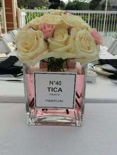 Gorgeous flowers at a 40th birthday party! See more ideas at CatchMyParty.com! #partyideas #40th
