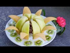 How to Make a Centerpiece with Melon | Fruit Carving - YouTube