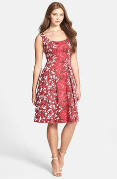 Found my Mother's Day Garden Party Dress! Maggy London Floral Print Cotton Sateen Fit & Flare Dress available at #Nordstrom