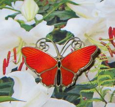 Tiny Vintage Norway Sterling Butterfly Pin Mother's by baublology