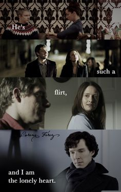 The flirt, and the lonely heart.  Sherlock BBC Shelf