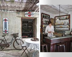 The small bistro housed in a spirit tavern in the heart of garden guest house in Provence Justin
