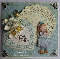 Happy Birthday Sarah Kay, Hobby House, Holly Hobbie, Kids Cards, Card Making, Happy Birthday, Paper Crafts, Scrapbook, Colours