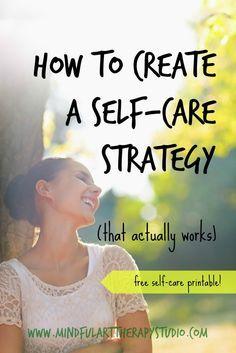 Self Care Strategy & Printable