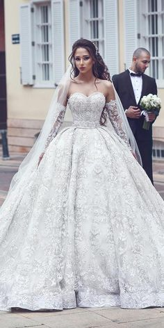 42a8bb4b2d0 21 Princess Wedding Dresses For Fairy Tale Celebration. Lace Wedding Dress  BallgownWedding ...
