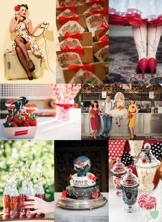 Rockabilly Wedding Styling Mood Board from The #Wedding Community