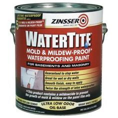 Zinsser 1-gal. Watertite Mildew Proof Waterproofing Paint-203300 at The Home Depot. For the Balcony ledge.
